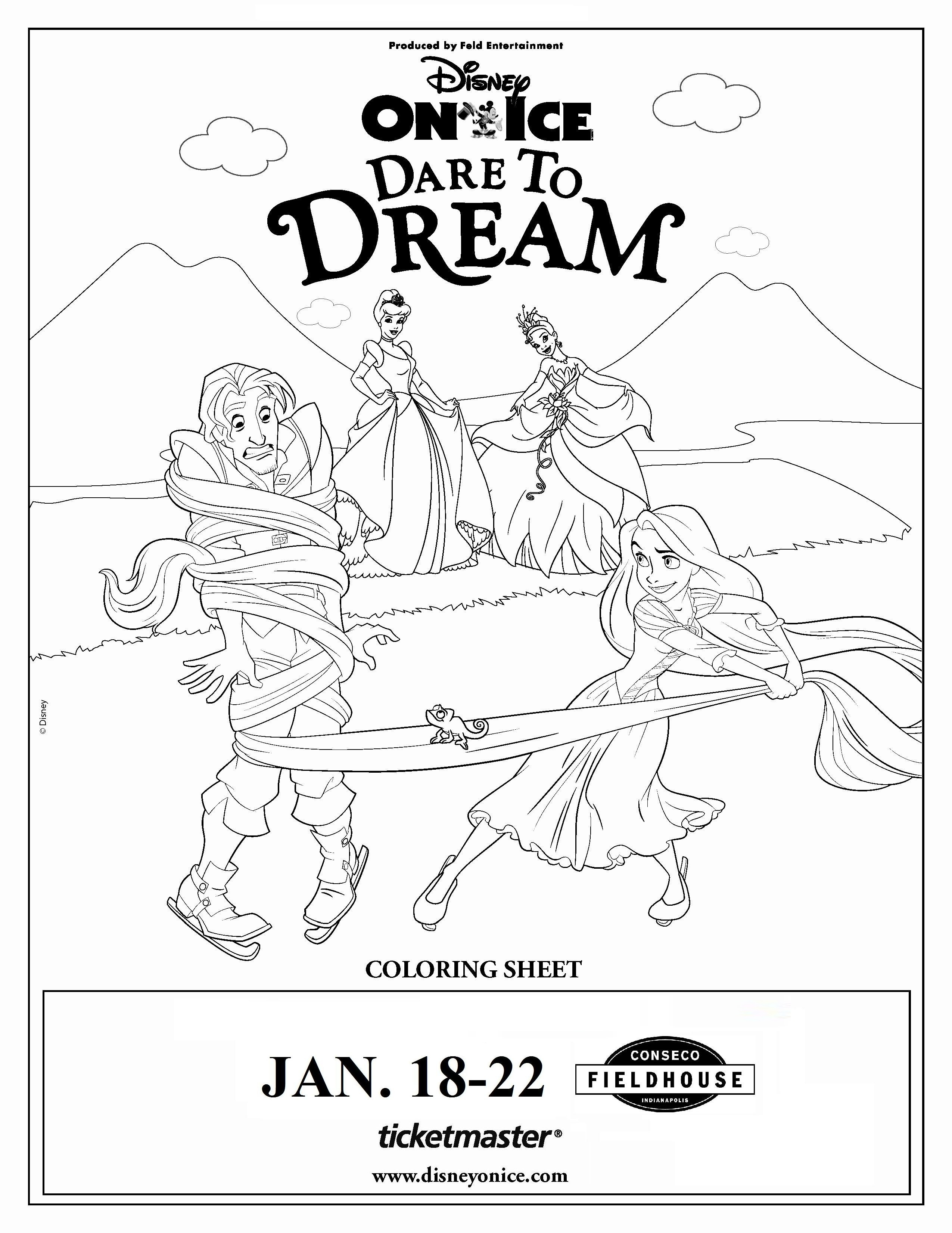 Disney on ice dare to dream comes to indiana for Disney on ice coloring pages